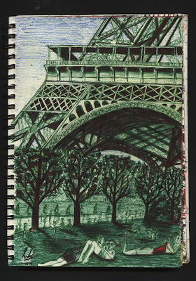 dibujo Tour eiffel - Paris - Champs de Mars dessin