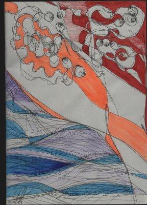 dibujo toxinas, orgía tóxica, toxic orgy drawing