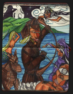 dibujo Odiseo Rey de ítaca. Ulises Ithaca King drawing