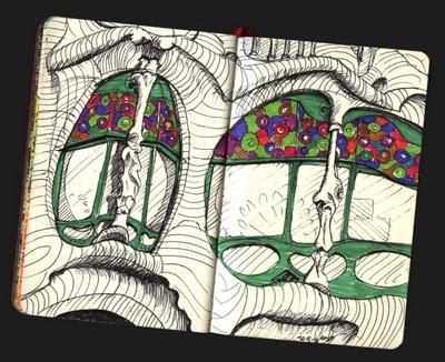 dibujo Casa Batlló. Barcelona drawing