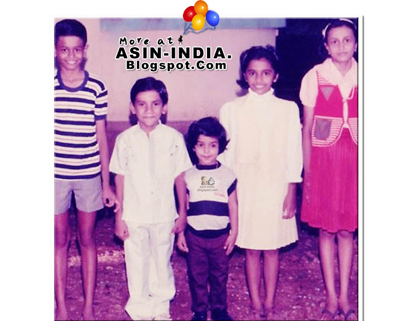 asin with her school mates