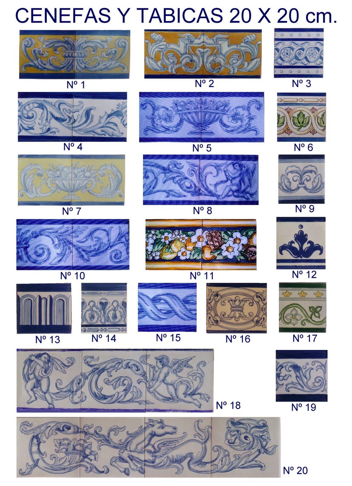 Azulejos pintados a mano cat logo de azulejos y cenefas - Azulejos de segunda mano ...