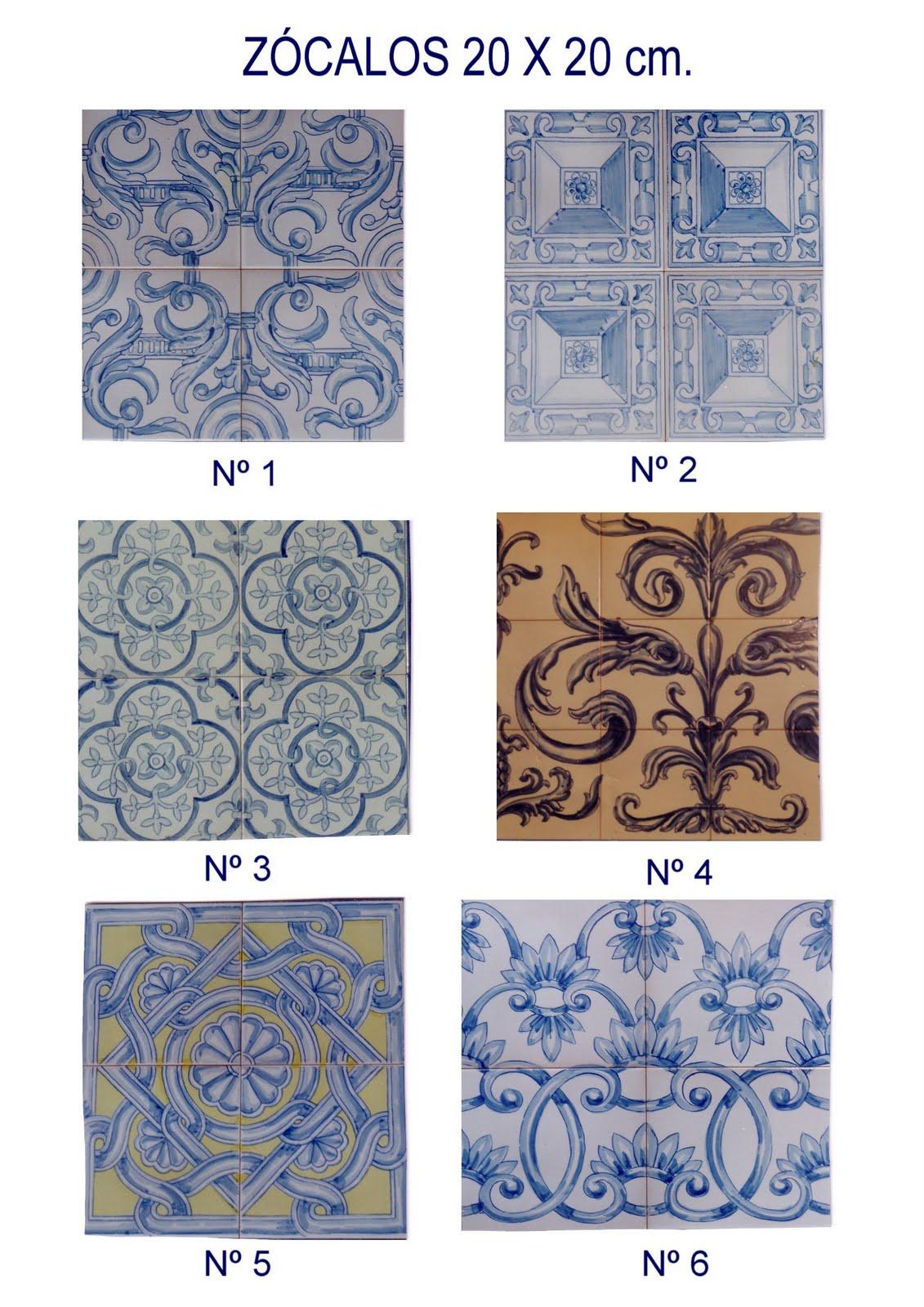 Azulejos pintados a mano cat logo de azulejos y cenefas for Catalogo de azulejos