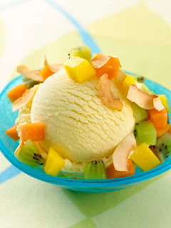 ... -Dazs Five™ Passion Fruit Ice Cream with Tropical Fruit Confetti