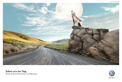 Publicité Volkswagen : pour rouler la nuit comme en plein jour