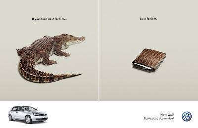Publicité Volkswagen Golf : protégez le crocodile