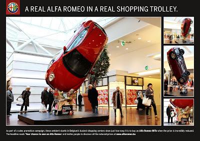 Publicité Alfa Romeo MiTo : à mettre dans son caddy