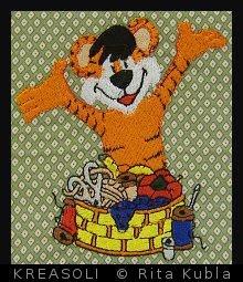 Hier näht der Tiger!