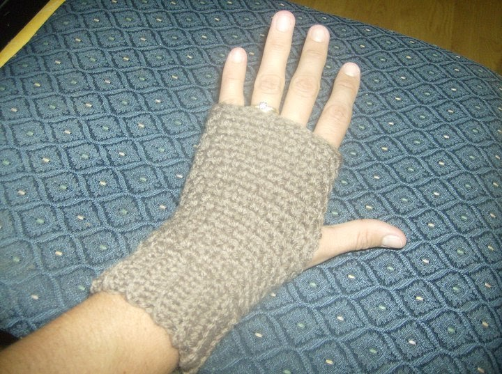 A Stitch At A Time for Amy B Stitched: Fingerless Mitts Crochet Pattern