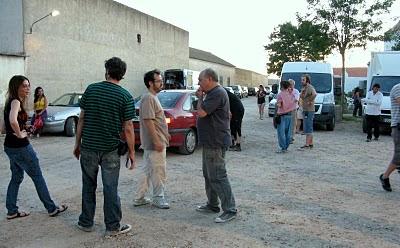 los directores y Víctor Tejedor (dop) en rodaje