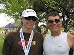 Dad and Connor post Kona 70.3