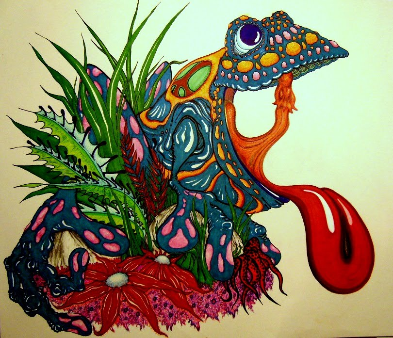 peace frog coloring pages - photo#34