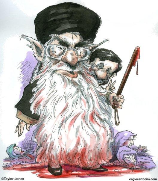 caricatures en rapport avec les evenements en iran