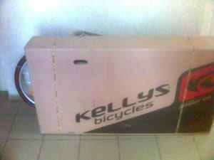 Велосипед Kellys в коробке