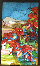 Poinsettia Window