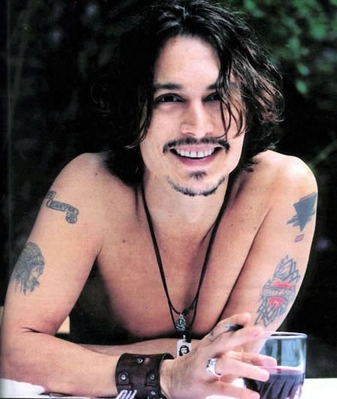 johnny depp hair. johnny depp