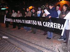 Concentração contra a prova de ingresso - Guarda, 5 de Novembro de 2008