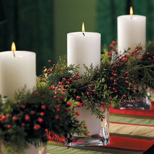 Steller kitchen holiday centerpieces for How to make christmas candle holders