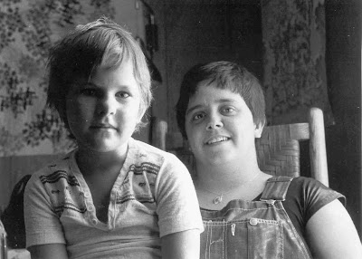 Maggie Jochild and daughter, Denton, Texas, 1977