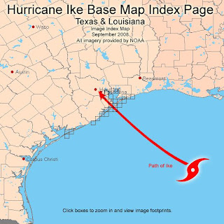 Hurricane Ike Aerial Image Map Index