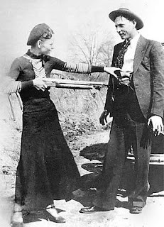 Bonnie Parker and Clyde Barrow 1933