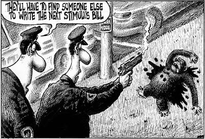 Sean Delonas cartoon depicting shooting by cops of chimp as stand-in for Barack Obama