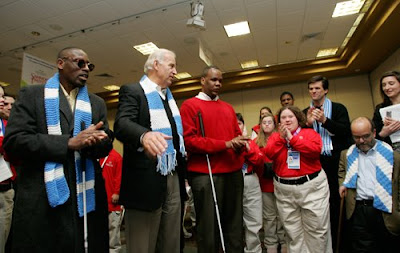 Vice President Biden introduces Kareem Dale at Special Olympics