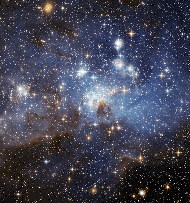 Star forming region in Large Magellanic Cloud