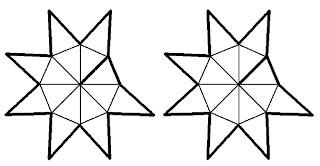 Drei sterne vom adventsbasteln