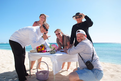 Footprints in the Sand - Cayman Islands Beach Wedding - image 5