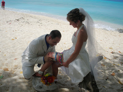 The Story of Joanne's Wedding Garter, and a Cayman Wedding - image 4