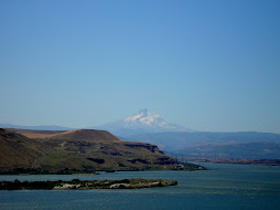 MT HOOD AND THE COLUMBIA RIVER