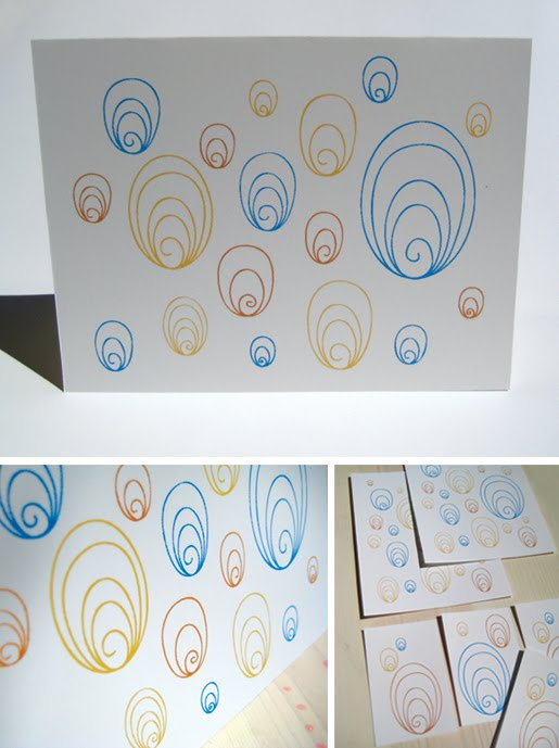 Abstract Shells printable stationery set by Paper Squid