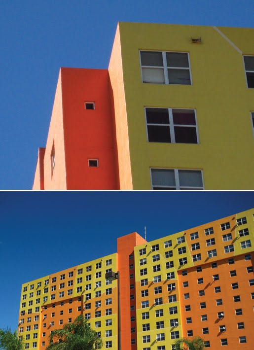 Hialeah Miami Florida colorful apartment building