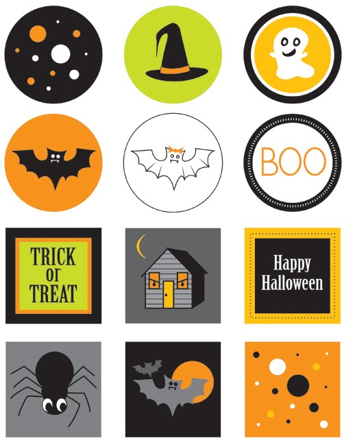 Paper Squid Halloween free printables cupcake toppers on the blog