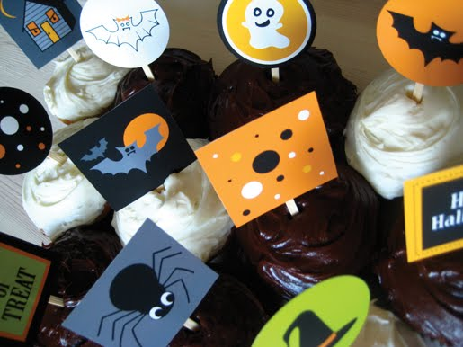 Halloween Cupcake Toppers Free Printable