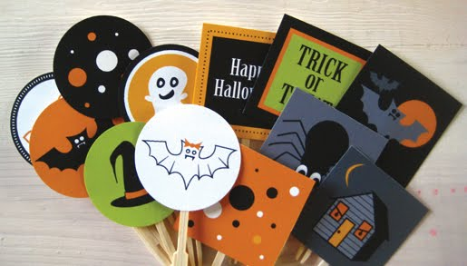 Freebie download Halloween Cupcake Toppers