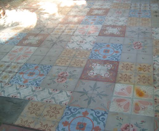Old floor tiles from the Ernest Hemingway home
