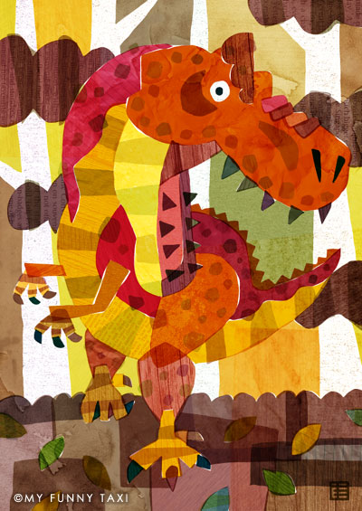 恐竜のイラスト Dinosaur illustration