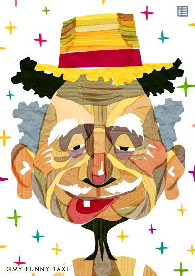 おじいさんのイラスト Old man illustration