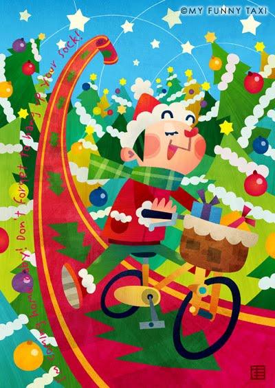 クリスマスのイラスト Christmas illustration