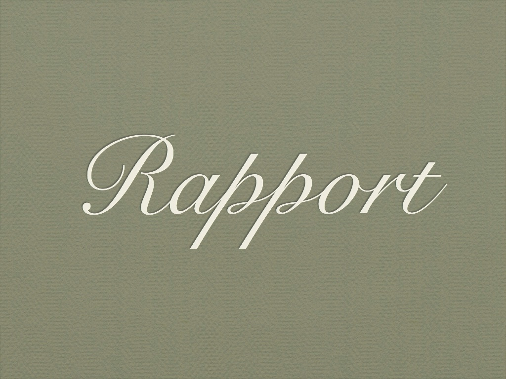 what is the meaning of rapport in a relationship
