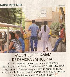 Problemas no atendimento a enfermos. Pacientes reclamam de longa espera em hospitais.