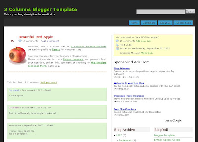 FTW Theme Blogger Template