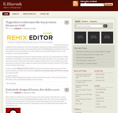 Premium Red Blogger Template
