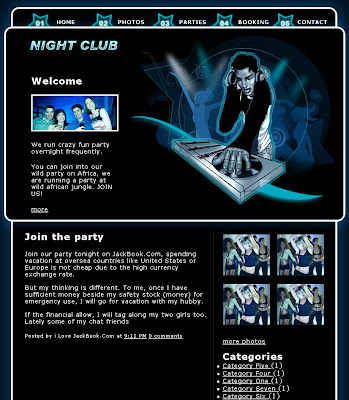 Night Club Blogger Template