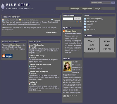 Blue Steel Magazine Style Template