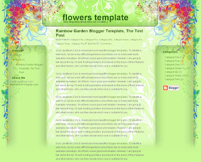 Rainbow Garden Blogger Template