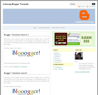 Indomagz Premium Blogger Template