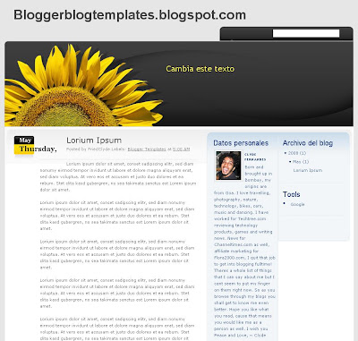 Podsolnuh Blogger Template